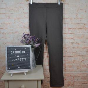 Betabrand Taupe Dress Yoga Pant Petite EUC B2